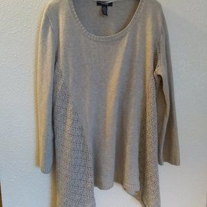 Taupe Cotton Blend Sweater